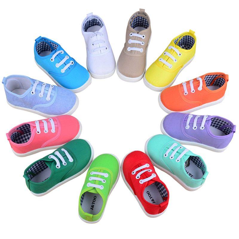 Niñas zapatos de bebé 21-30 Sneakers lona de los niños para el ...