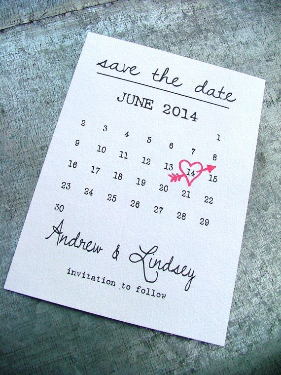 Calendar Save The Date Cards Simple Save The Date Includes