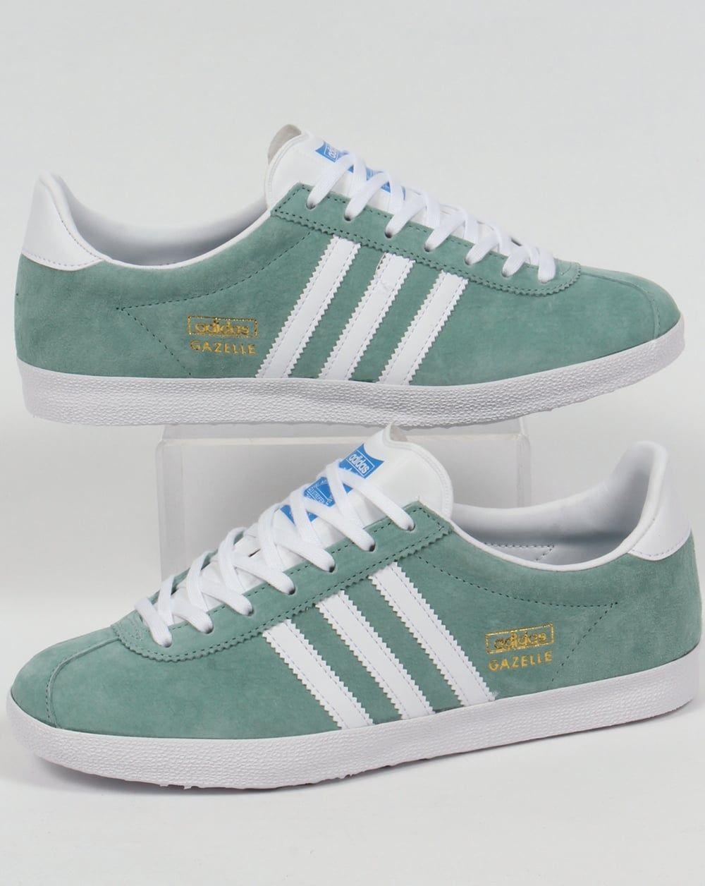 927857dc041b3 Adidas Gazelle OG Trainers Legend Green/White | Addidas | Adidas ...