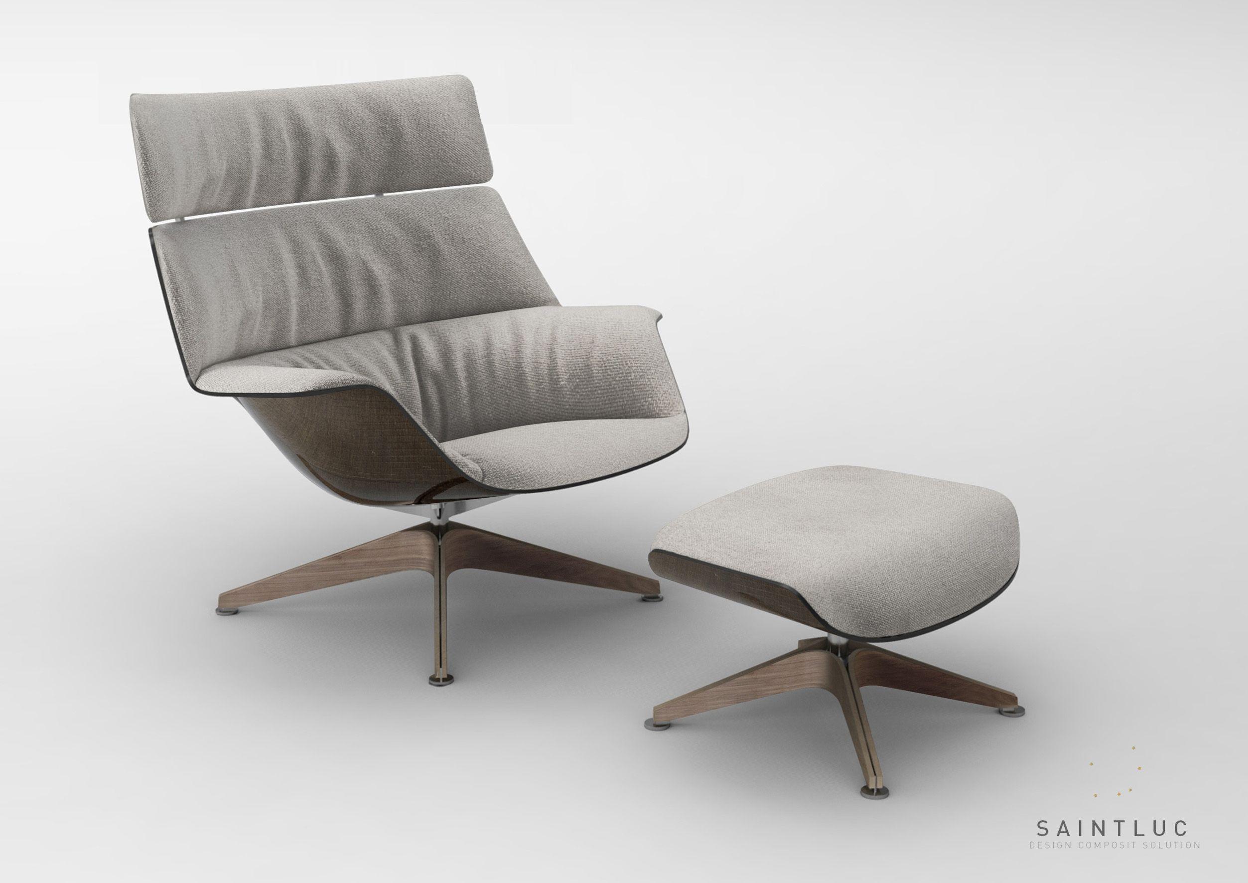 Massaud — Saint Luc fauteuil posite fibre de lin