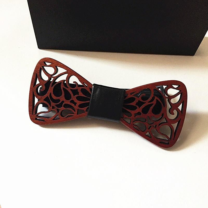 Classic feather noble Wood Bow Ties for Mens Wedding Suits Tie Butterfly Shape