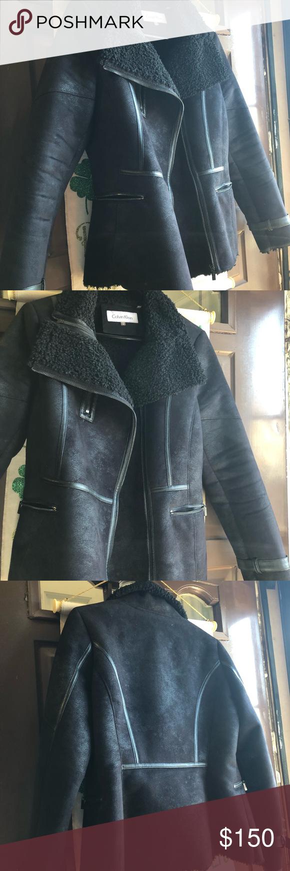 Leather Calvin Klein Jacket Leather Calvin Klein Jacket