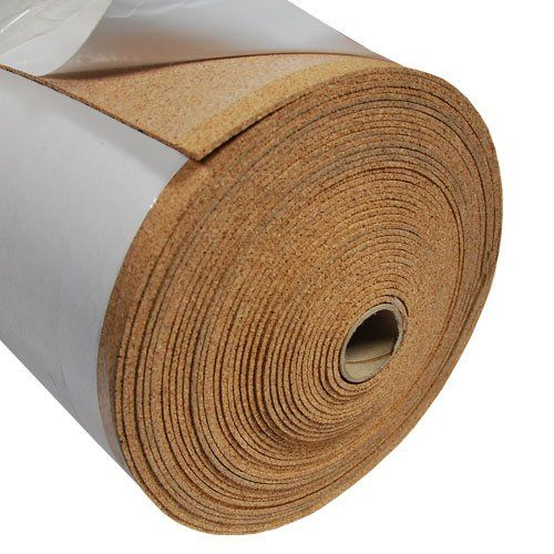 Fine Grain Cork Adhesive 1 16 Thick X 48 Wide X 6 Long Rubber Flooring Cork