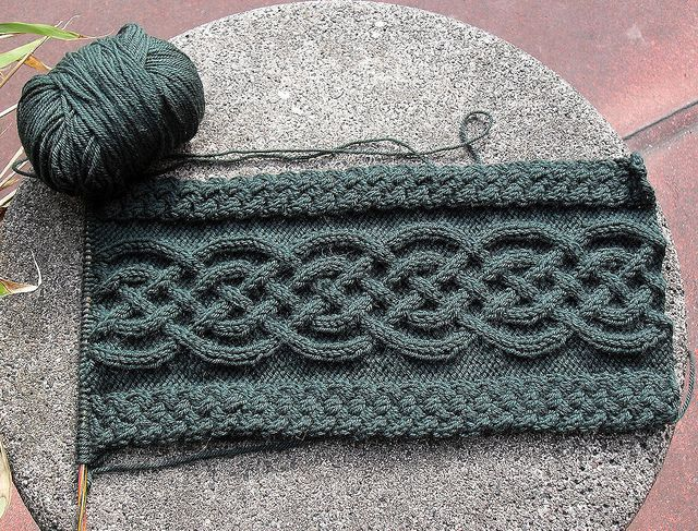 Celtic/Aran knitting.... Someone who knows how to knit ...