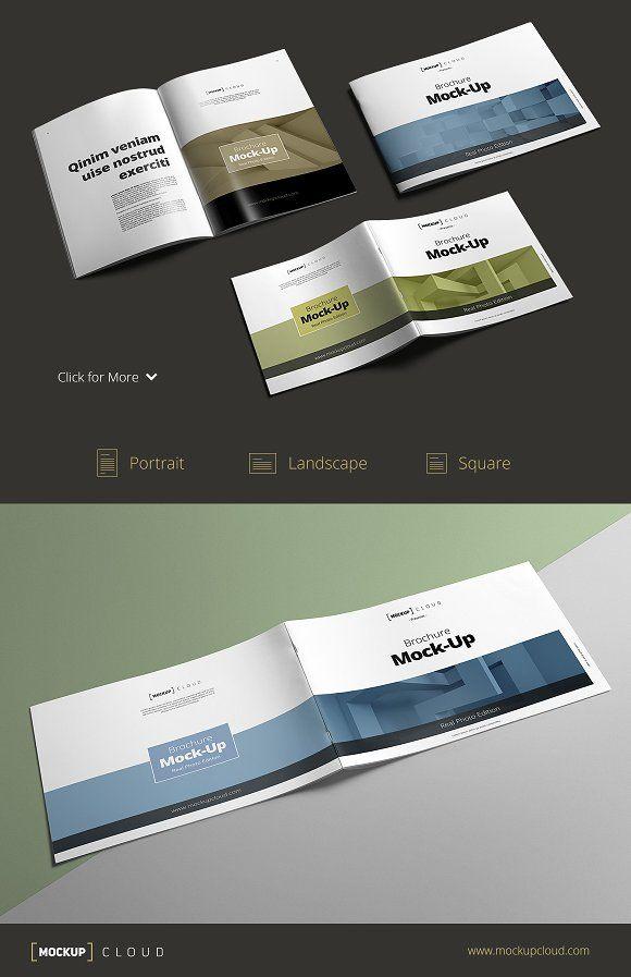 4 Pharmacy mockups by Pykhtik on @creativemarket Mock Up for - gate fold brochure mockup