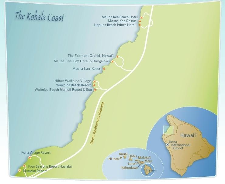The Kohala Coast Resort Map The Big Island Pinterest