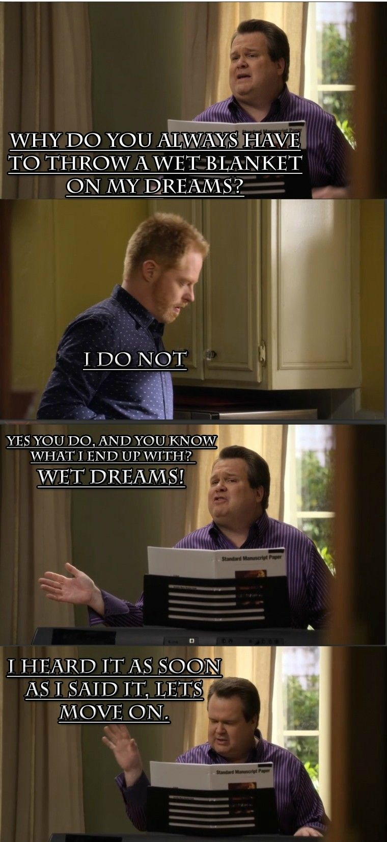 A Wet Blanket Modern Family Quotes Family Funny Modern Family
