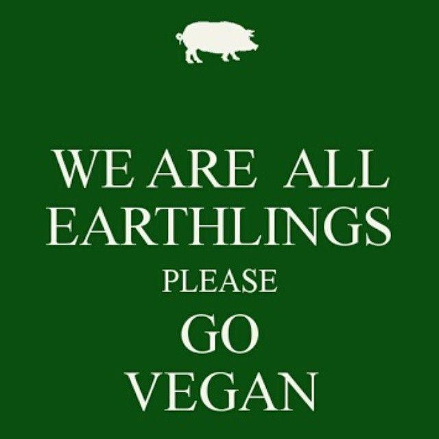 We Are All Earthlings Please Go Vegan Going Vegan Vegan Quotes Vegan Quotes Funny