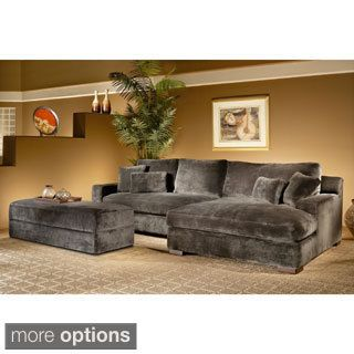 Fairmont Designs Made To Order Doris 3 Piece Smoke Sectional Sofa With  Storage Ottoman (Minx/Smoke 2pc Sectional Set: Left Sofa, Right Chaise, ...