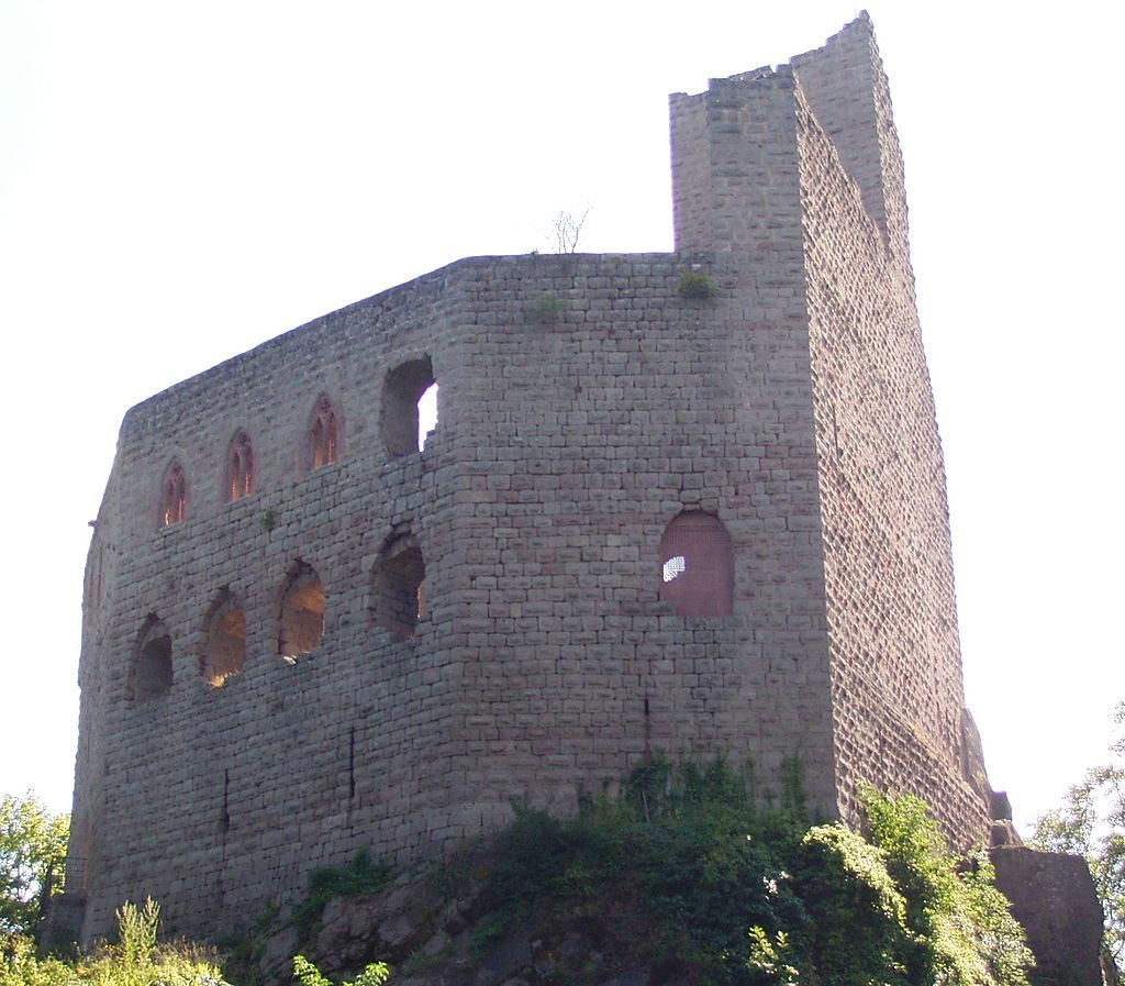 (Bas-Rhin) Andlau - Château Du Spesbourg (1250)