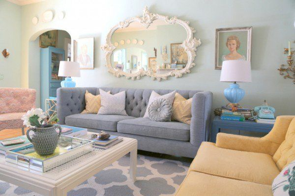 The Antidote To The Sofa Loveseat Combination Mismatched Living Room Furniture Happy Living Rooms Love Seat