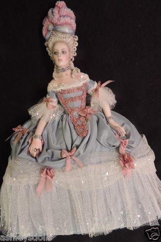 "Sally Cutts Doll Marie Antoinette 1770s Artist Doll Susan Sirkis Costume 8 5"" | eBay"