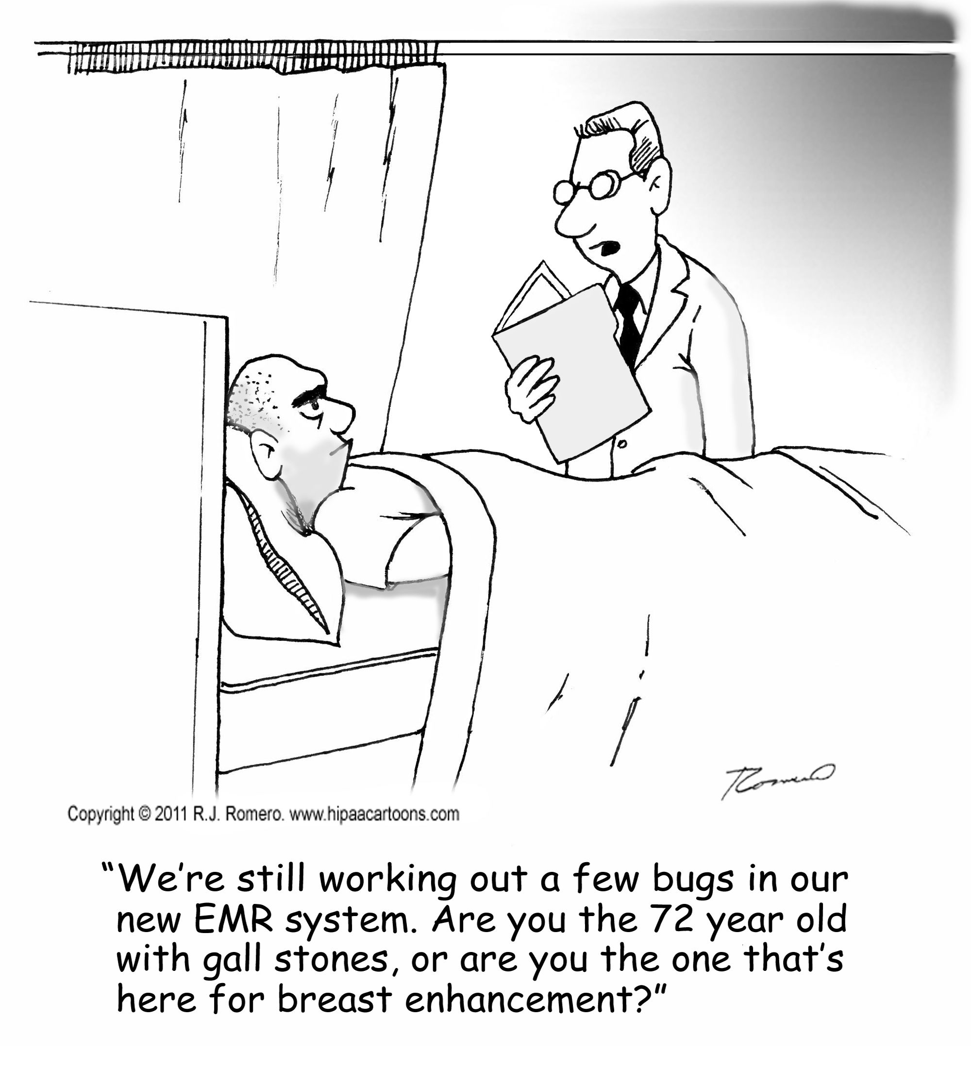 Electronic Medical Records Cartoons  Ehr  Emr Cartoons  Hipaa