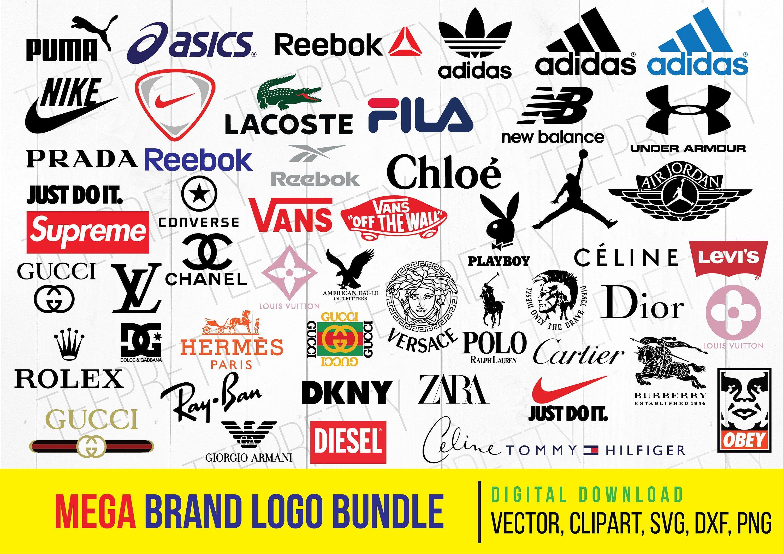 Mega Brand Logo Bundle, Sport Logo Svg, nike, Logo Svg