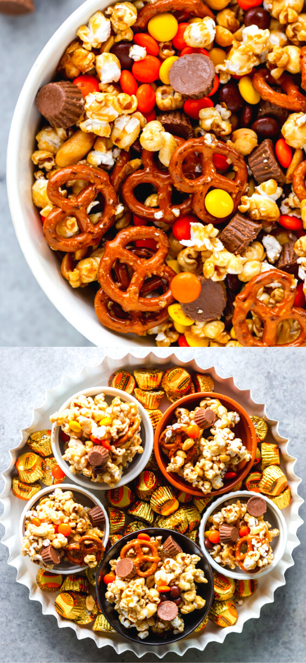 Sweet And Salty Popcorn Snack Mix Recipe Best Appetizer Recipes Cooking Recipes Food