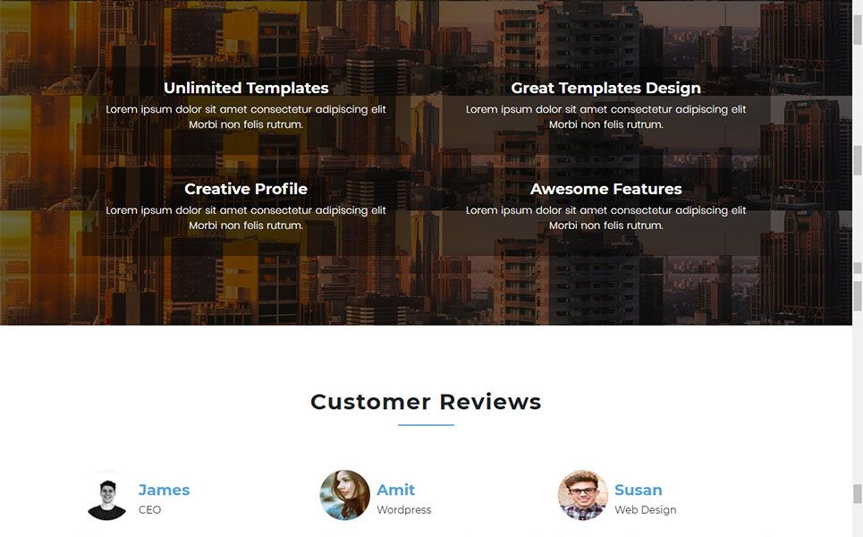 Onix One Page Parallax Bootstrap Landing Page Template Clothing