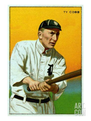 Detroit Mi Detroit Tigers Tyrus Raymond Cobb Baseball Cardby