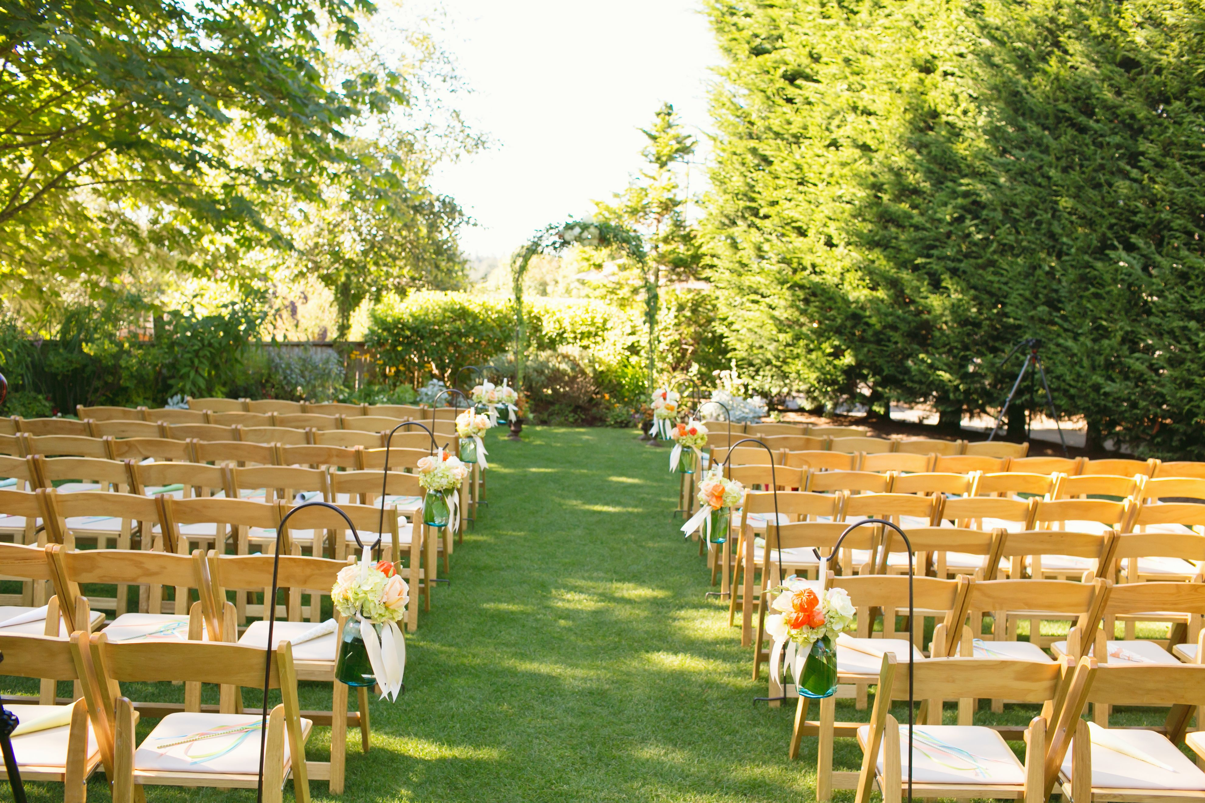 Beautiful Outdoor Ceremony At The Hall Of Fauntleroy