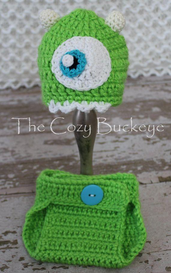 Newborn Mikey Hat & Diaper Cover Set * Crochet design by April ...