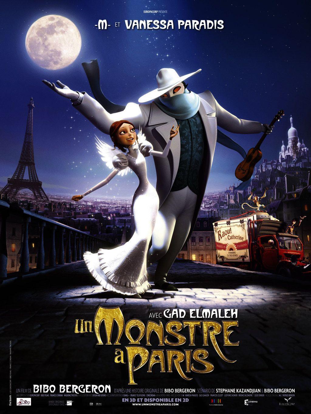 Un Monstre A Paris D Eric Bergeron Paris Movie Animated Movies