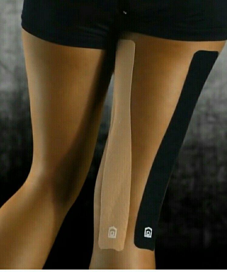 Kt tape for back of knee for hamstrings and tendonitis