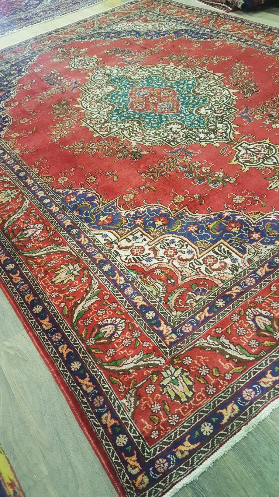 Red Traditional Extra Large Area Rug Authentic Handmade Oriental