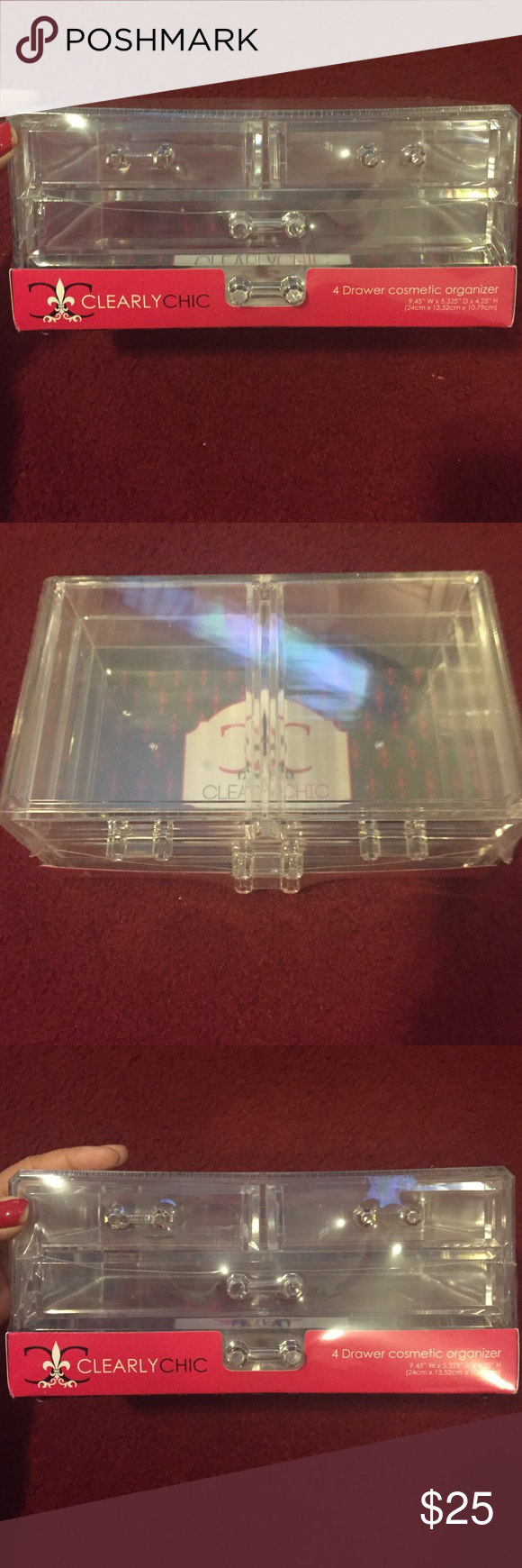 4 drawer cosmetic organizer 4 drawer cosmetic organizer- unopened new. Fits make up and hair supplies. Accessories