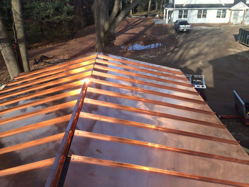 Standing Seam Copper Roof Installation Morristown Nj