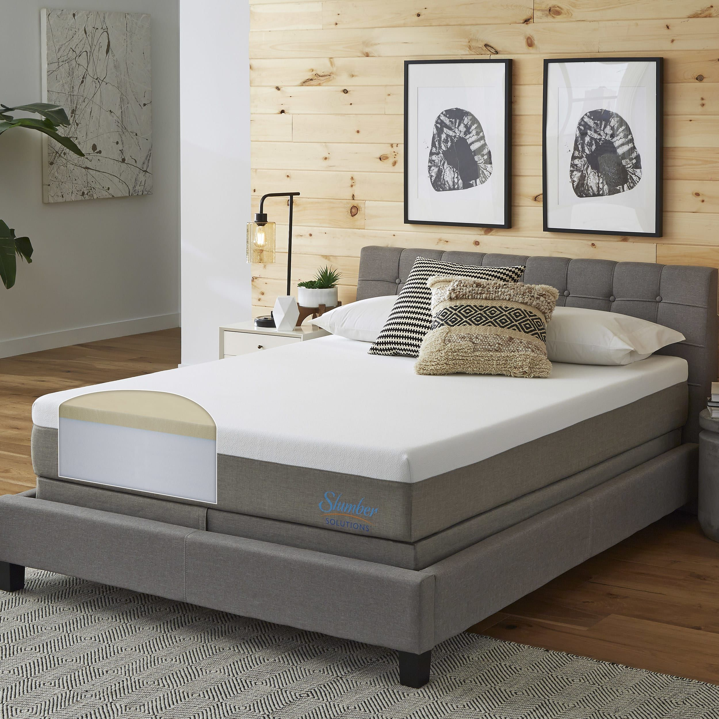 Slumber Solutions Essentials 10 Inch California King Size Memory Foam Mat King Size Memory Foam Mattress Mattress Sets