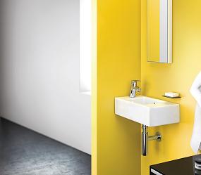 Når det gælder at skabe et badeværelse med farve, så er den gule farve en af årets hotteste farver.