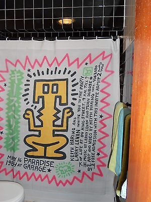 Paradise Garage Keith Haring Party Of Life Shower Curtain Wall Hanging Gay