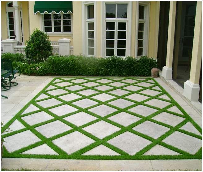 Captivating Paver And Grass Patio