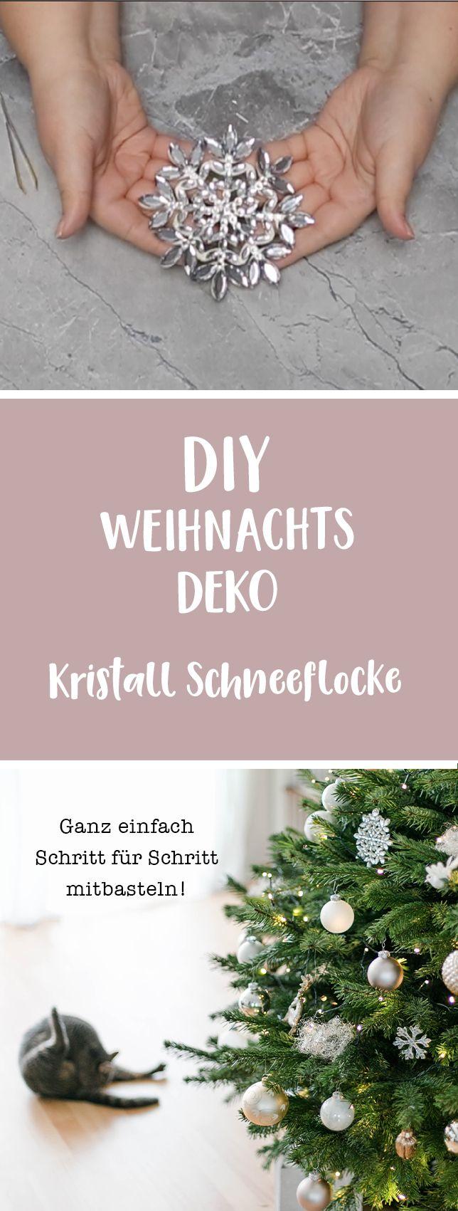 diy weihnachten ich zeige euch wie ihr eine deko kristall schneeflocke f r euren weihnachtsbaum. Black Bedroom Furniture Sets. Home Design Ideas