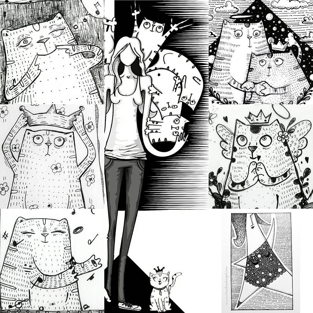 "40 Me gusta, 1 comentarios - Claudia Sabogal G. (@cgrafica) en Instagram: "":::Sketchs::: #illustration #gatos #drawing #draw #catsofinstagram #instaart #graphic #practice…"""