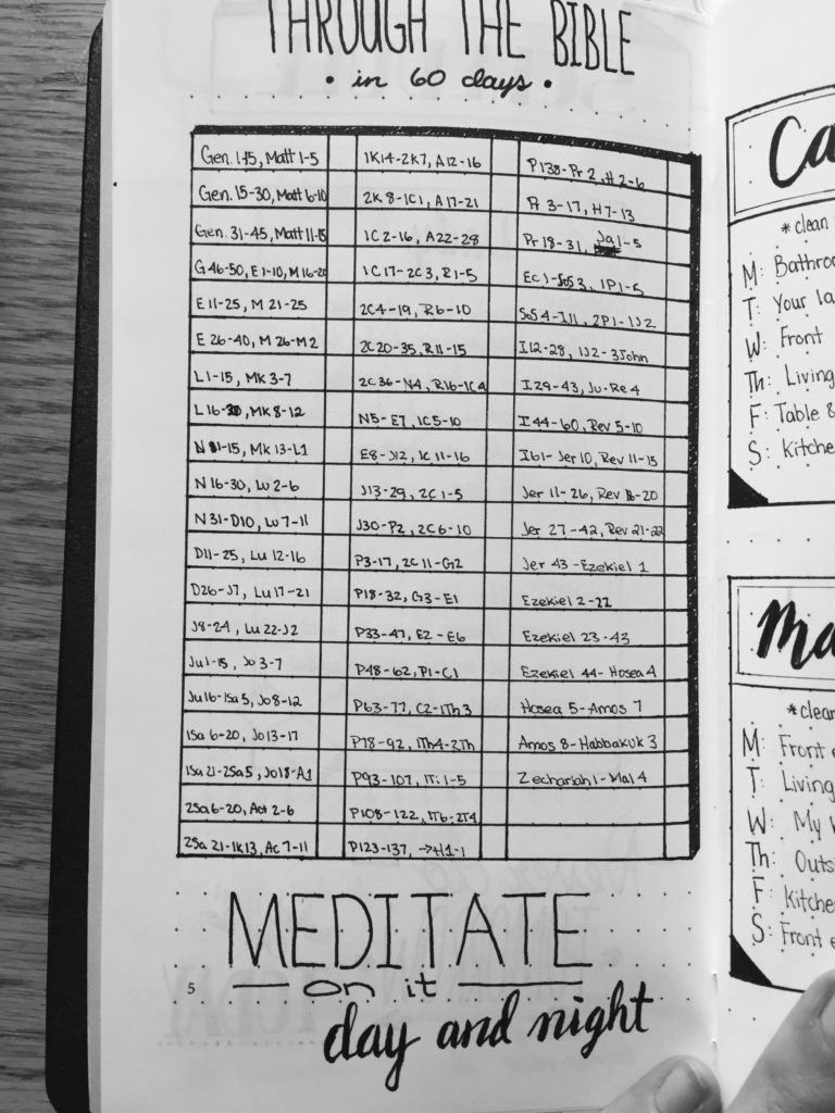 Read Through The Bible In 60 Days Bullet Journal Collection