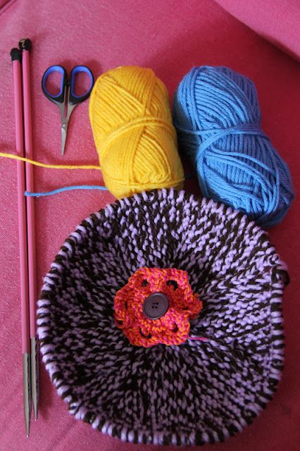 homemade@myplace: My first try : knitted bowl tutorial ...