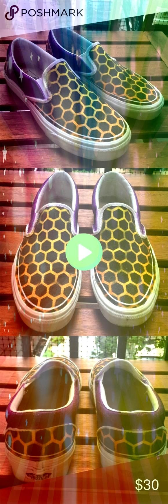 Things yellow vans slip on Yellow Things yellow vans slip onYellow Things yellow vans slip on Customized Vans One of a kind customized through Vans app Vans Shoes Sneaker...
