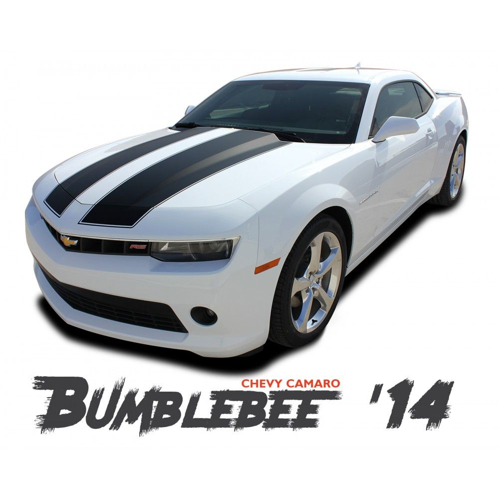 Chevy Camaro Bumblebee Transformers Hood Vinyl Graphics Racing Stripes Kit For 2014 2015 Models Chevy Camaro Stripe Kit Racing Stripes