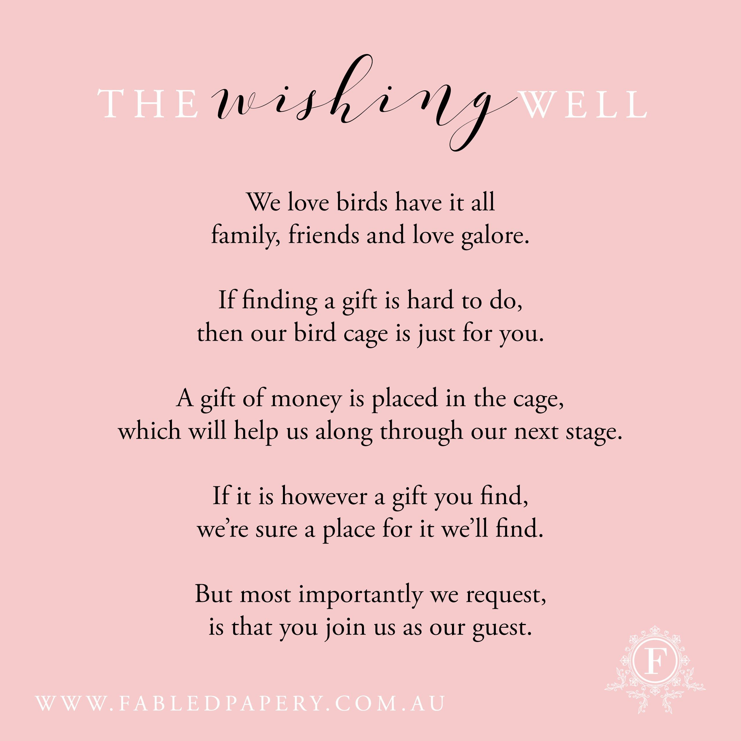 wishing well poems wedding ideas wedding wordings