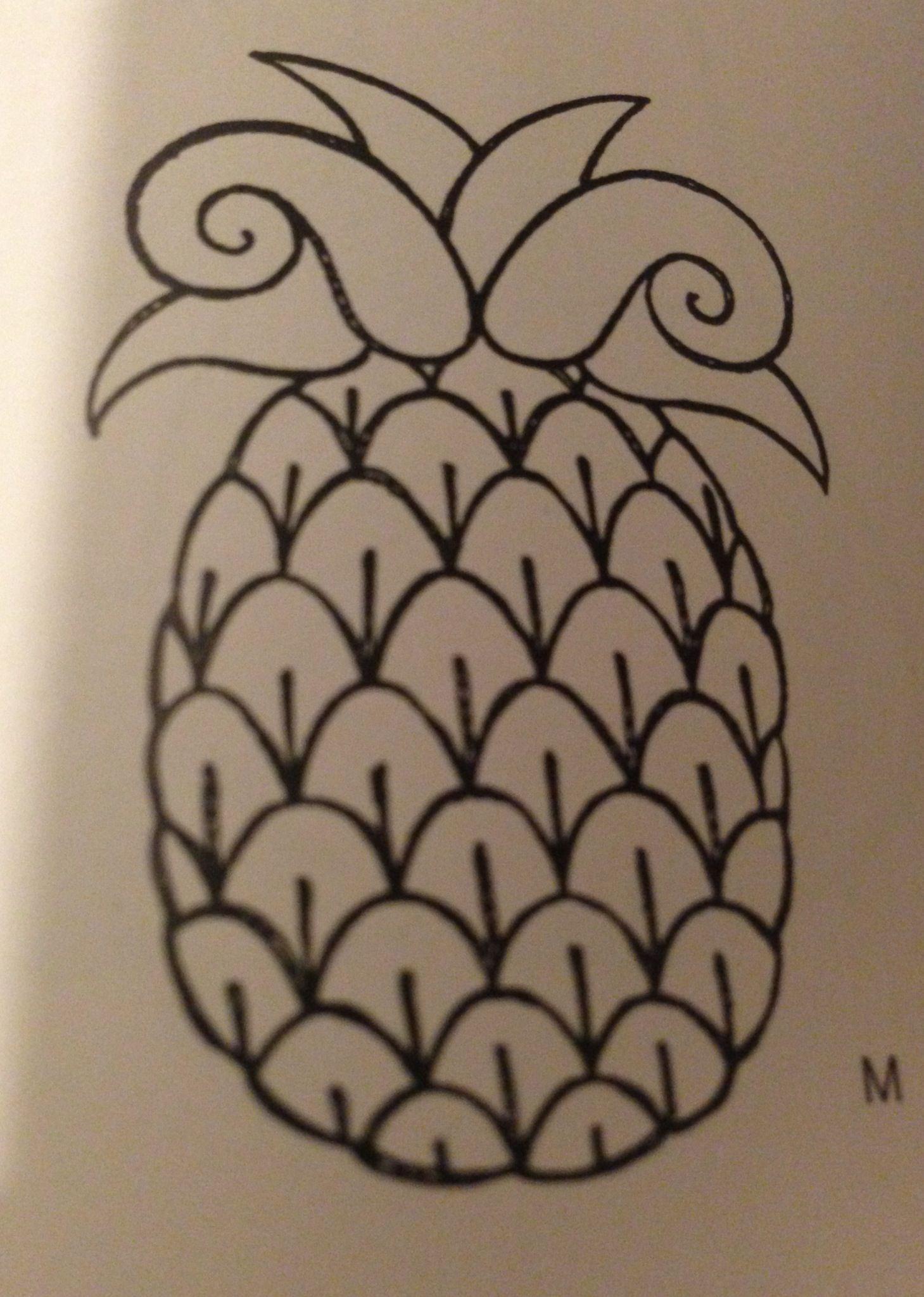 Pineapple outline | I want.... | Pinterest - photo#44