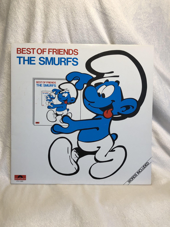 Vintage The Smurfs Best Of Friends Vinyl Record Album 1982 Release