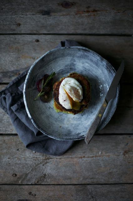 glutenfree avocado pancakes with poached egg