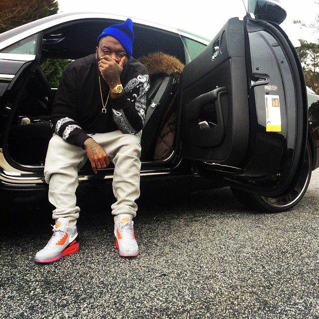 huge selection of 2e167 4b2f7 Rick Ross wearing Nike Air Max 90 Sneakerboot Ice Infrared