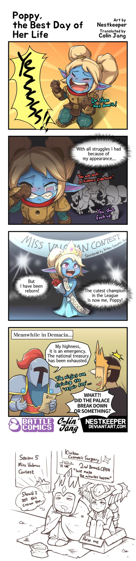 19goldlol Poppy The Best Day Of Her Life By Nestkeeper Lol League Of Legends League Of Legends Comic Poppy League