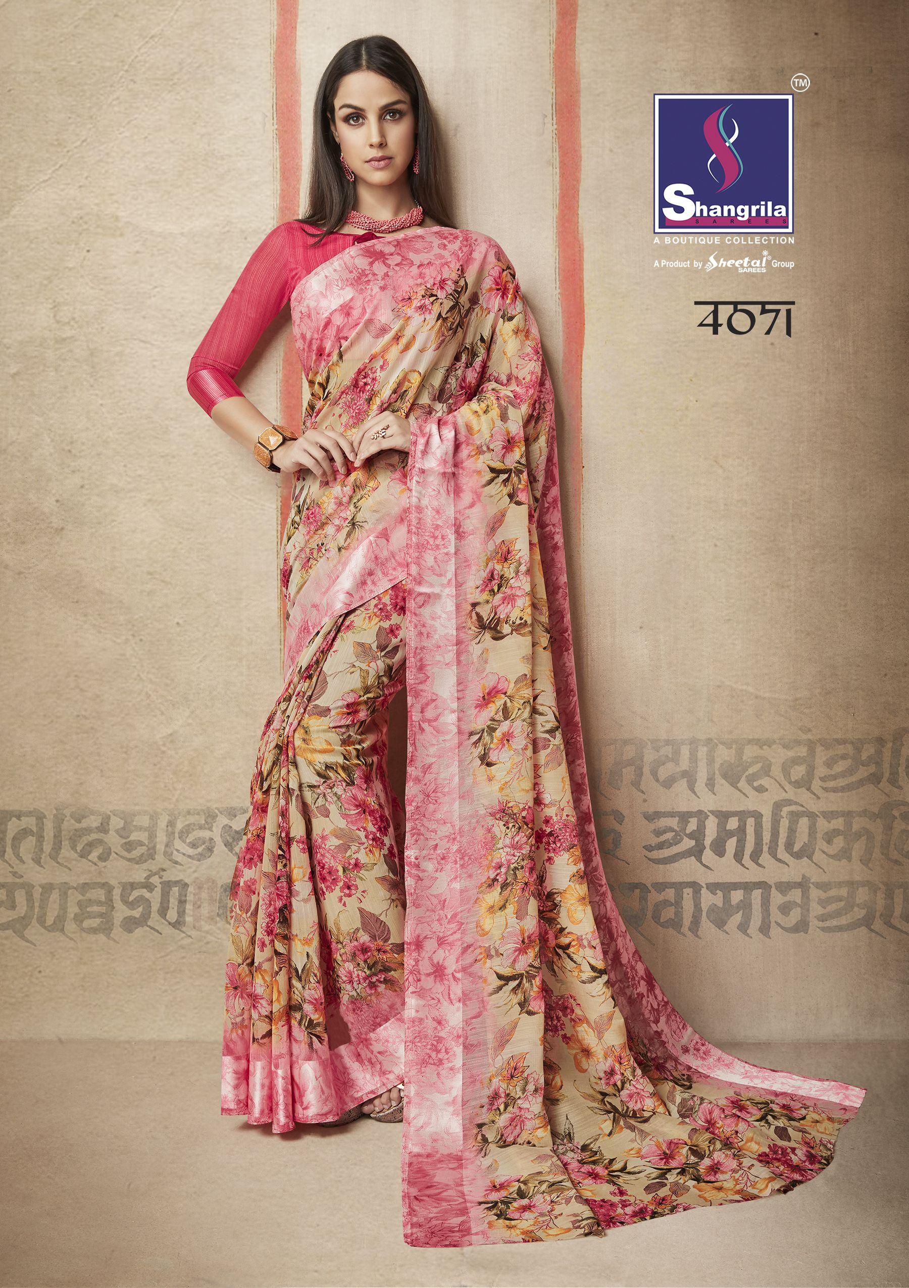 Shangrila Kanchana Vol-6 Linen Cotton Saree (12 pc catalog ... 33832e34c37