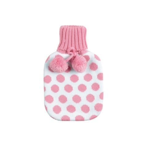 polka dots! Hot water bottle cover