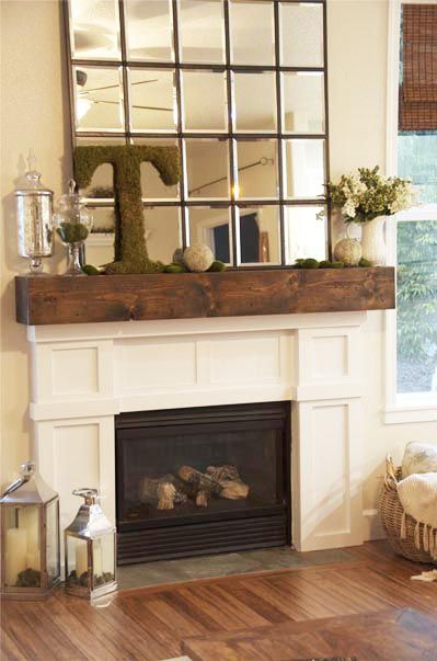 fireplace & mantel transformation | Mantel Accessorizing ...