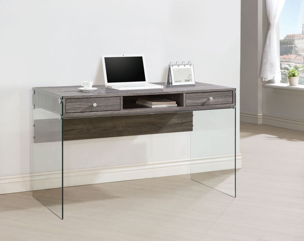 Coaster 800818 Modern Computer Desk with Glass Sides   Office ...