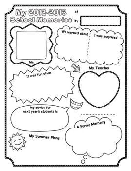 This download comes with two worksheets: one for looking back at ...
