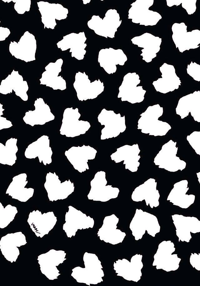 Corazones en blanco y negro black white pinterest - Papel de pared blanco y negro ...